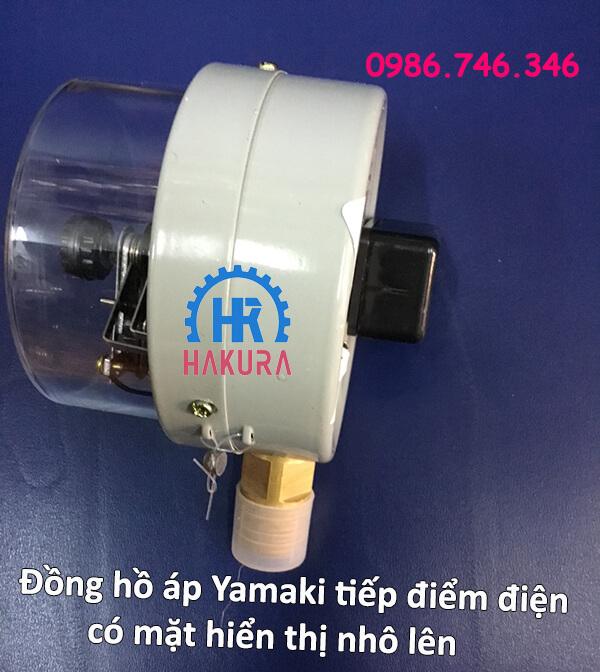Đồng hồ áp Yamaki tiếp điểm điện có mặt hiển thị nhô lên