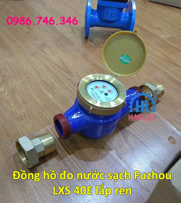 Đồng hồ đo nước sạch Fuzhou LXS 40E lắp ren