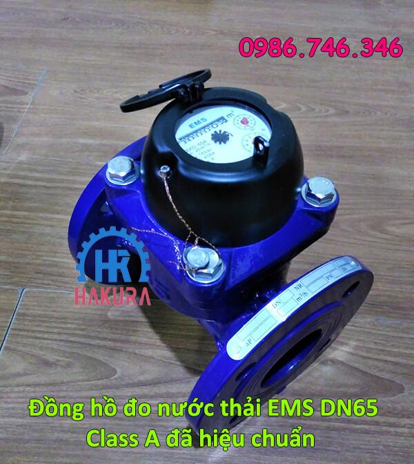 Đồng hồ đo nước thải EMS DN65 class A đã hiệu chuẩn