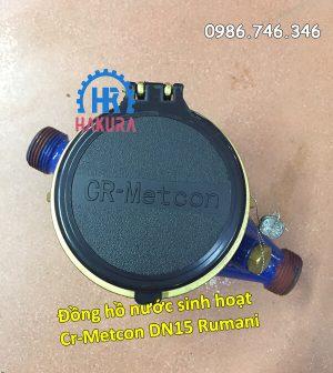 Đồng hồ nước sinh hoạt Cr-Metcon DN15 Rumani