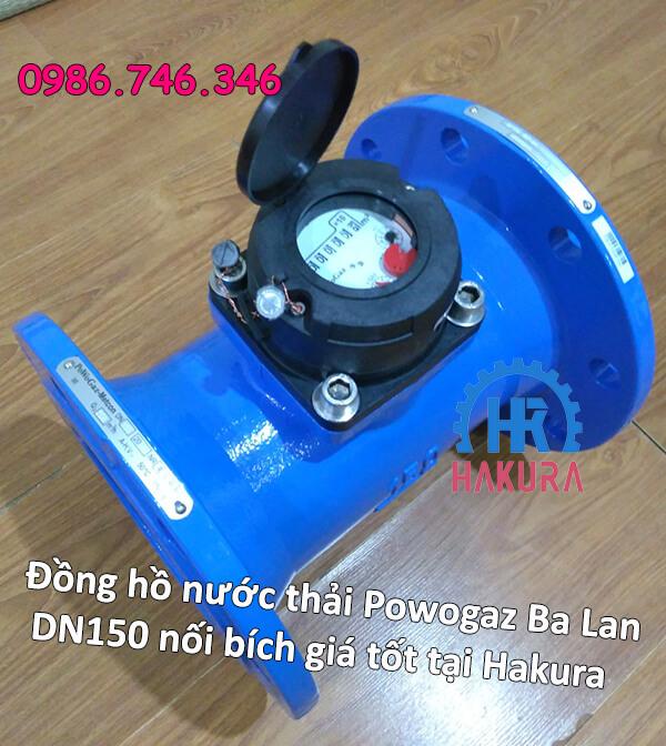 Đồng hồ nước thải Powogaz Ba Lan DN150 nối bích giá tốt tại Hakura