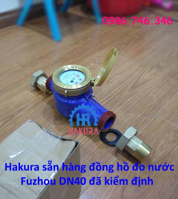 Hakura sẵn hàng đồng hồ đo nước sinh hoạt Fuzhou DN40 đã kiểm định