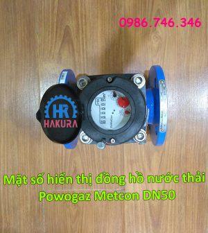 Mặt số hiển thị đồng hồ nước thải Powogaz Metcon DN50