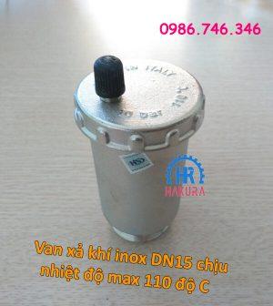 Van xả khí inox DN15 chịu nhiệt độ max 110 độ C