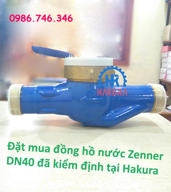 Đặt mua đồng hồ nước Zenner DN40 đã kiểm định tại Hakura