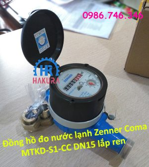 Đồng hồ đo nước lạnh Zenner Coma MTKD-S1-CC DN15 lắp ren