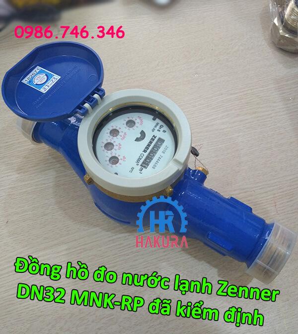 Đồng hồ đo nước lạnh Zenner DN32 MNK-RP đã kiểm định