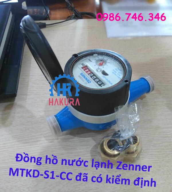 Đồng hồ nước lạnh Zenner MTKD-S1-CC đã có kiểm định