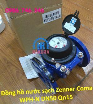 Đồng hồ nước sạch Zenner Coma WPH-N DN50 Qn15