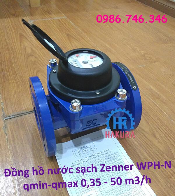 Đồng hồ nước sạch Zenner WPH-N Qmin-Qmax 0,35-50 m3/h