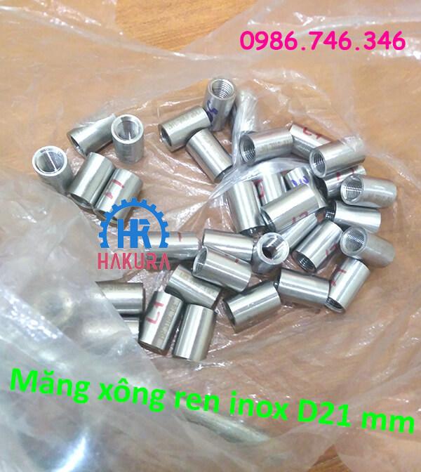 Măng xông ren inox D21 mm