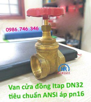 Van cửa đồng Itap DN32 tiêu chuẩn Ansi chịu áp lực pn16