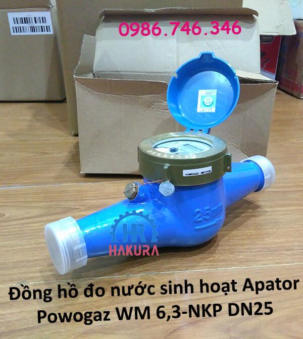 Đồng hồ đo nước sinh hoạt Apator Powogaz WM 6,3-NKP DN25