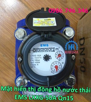 Mặt hiển thị đồng hồ nước thải EMS LXXG-50A Qn15