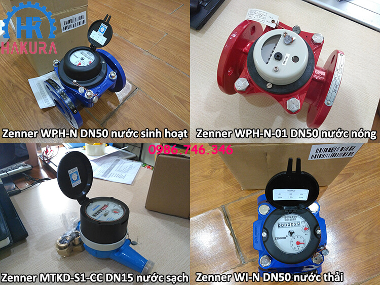 Đồng hồ đo nước Zenner Trung Quốc cho các công trình nhà máy, khu công nghiệp