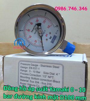 dong-ho-ap-suat-yamaki-0-10-bar-duong-kinh-mat-d100-mm