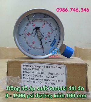 dong-ho-ap-suat-yamaki-dai-do-0-1500-psi-duong-kinh-100-mm