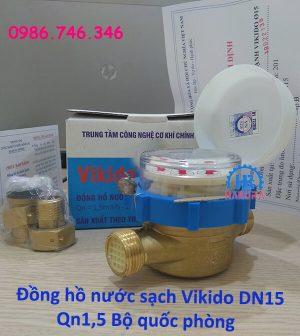 Đồng hồ nước sạch Vikido DN15 Qn1,5 Bộ quốc phòng