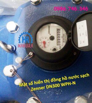 Mặt số hiển thị đồng hồ nước sạch Zenner DN300 WPH-N