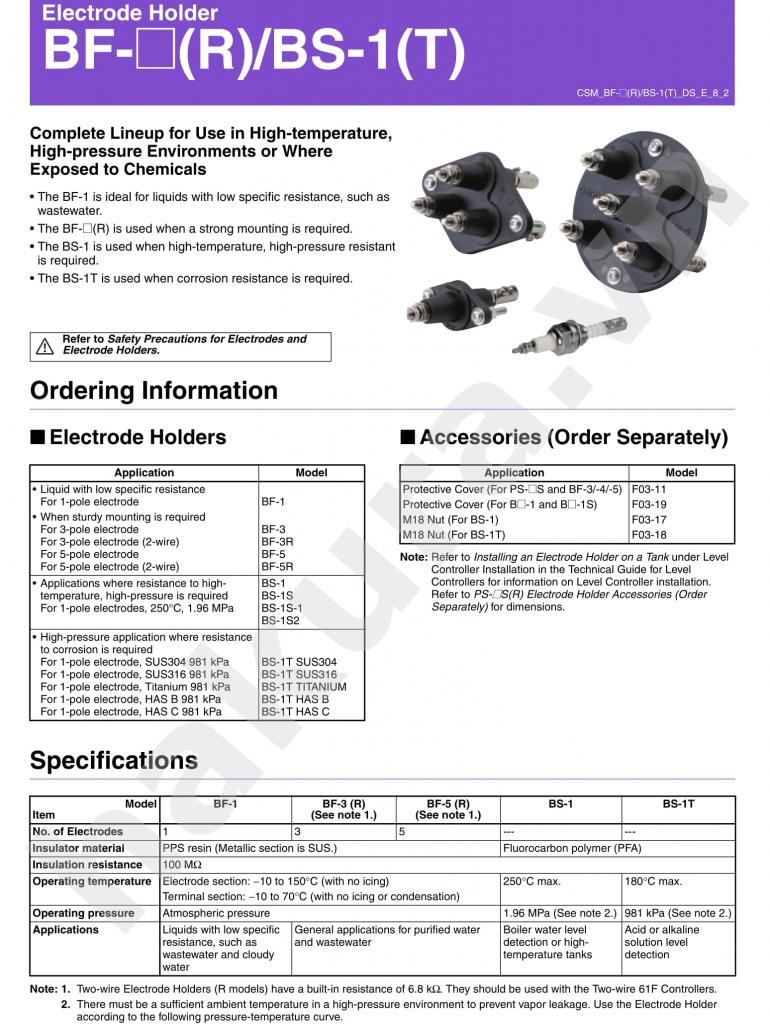Catalogue thông số kỹ thuật báo mức que bs1