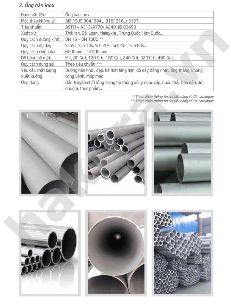 Catalogue thông số kỹ thuật ống inox 201 -hakura.vn-ảnh 1