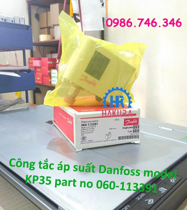 Công tắc áp suất Danfoss model KP35 part no 060-113391