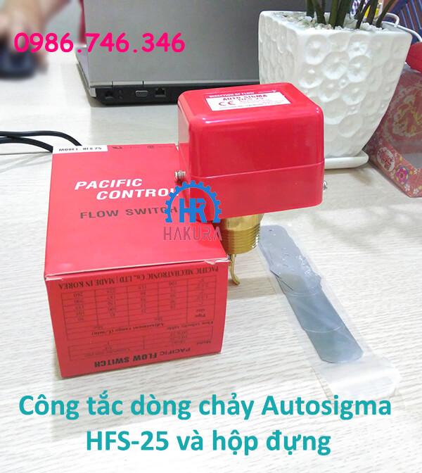 Công tắc dòng chảy Autosigma HFS25 và hộp đựng