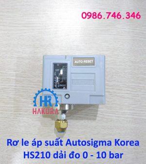 Rơ le áp suất autosigma Korea HS210 dải đo 0 - 10 bar