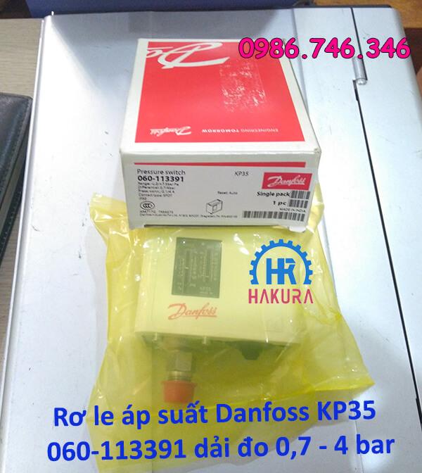Rơ le áp suất Danfoss KP35 060-113391 dải đo 0,7 - 4 bar