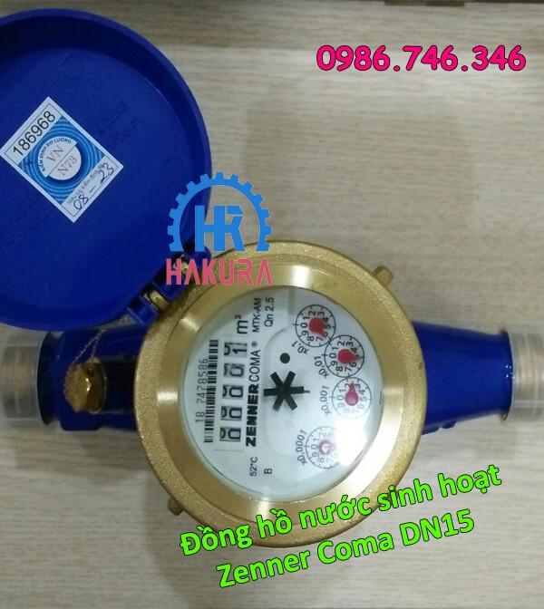 Đồng hồ nước sạch Zenner Coma DN15