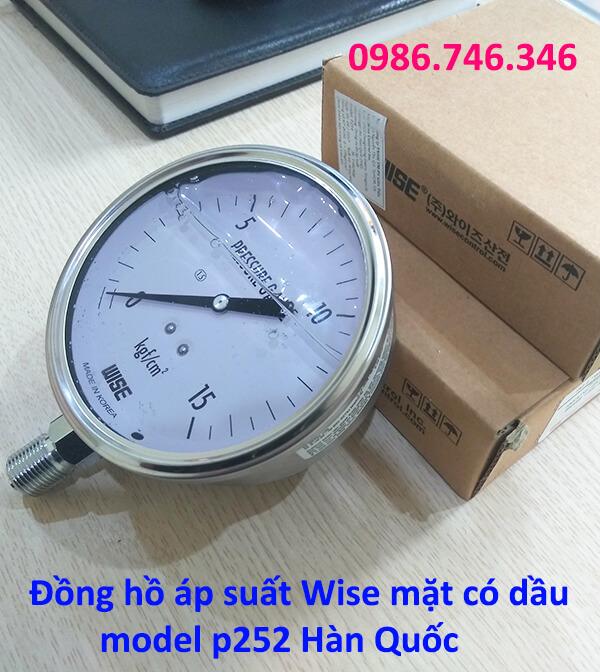 Đồng hồ áp suất Wise mặt có dầu model p252 Hàn Quốc - hakura.vn