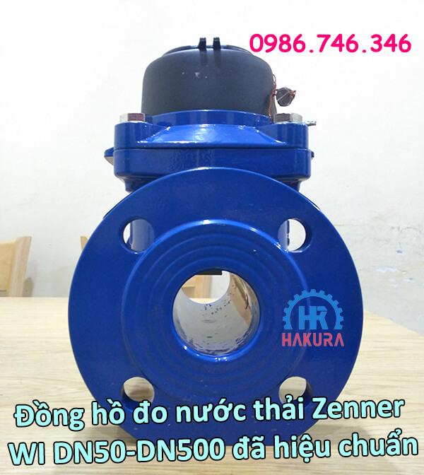 Đồng hồ đo nước thải Zenner WI DN50-DN500 đã hiệu chuẩn