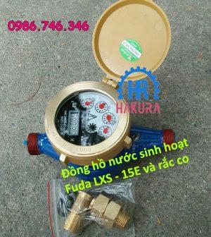 Đồng hồ nước sinh hoạt Fuda LXS 15E và rắc co
