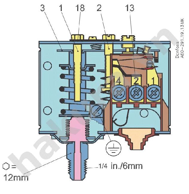 cấu tạo công tắc áp suất đơn-hakura.vn