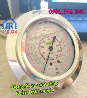 Đồng hồ áp suất thấp Refco D60 Thụy Sĩ
