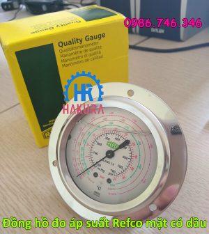 Đồng hồ đo áp suất Refco mặt có dầu