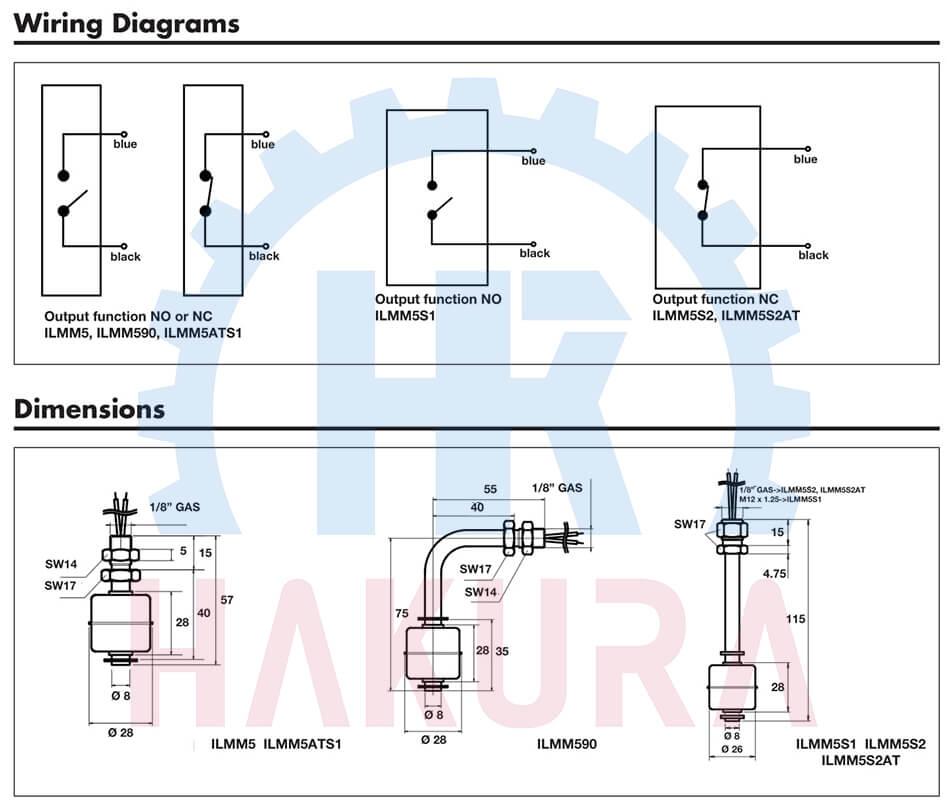 Nguyên lý hoạt động - cấu tạo các loại phao báo mức nước, mức dầu ILMM Carlo Gavazzi