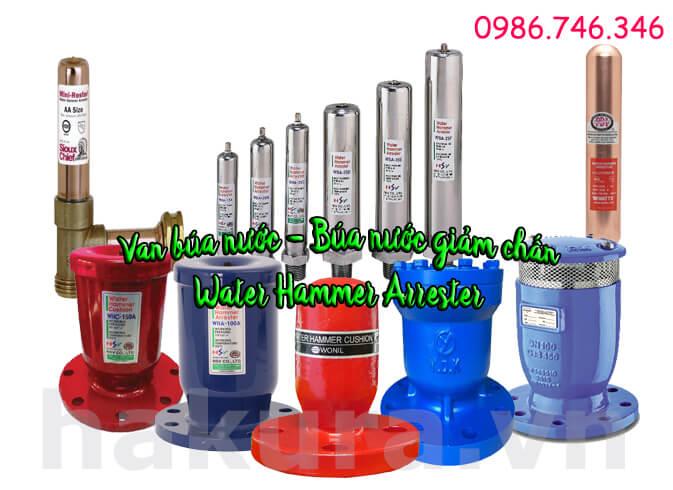 Khái niệm van búa nước - búa nước giảm chấn water hammer arrister - hakura.vn