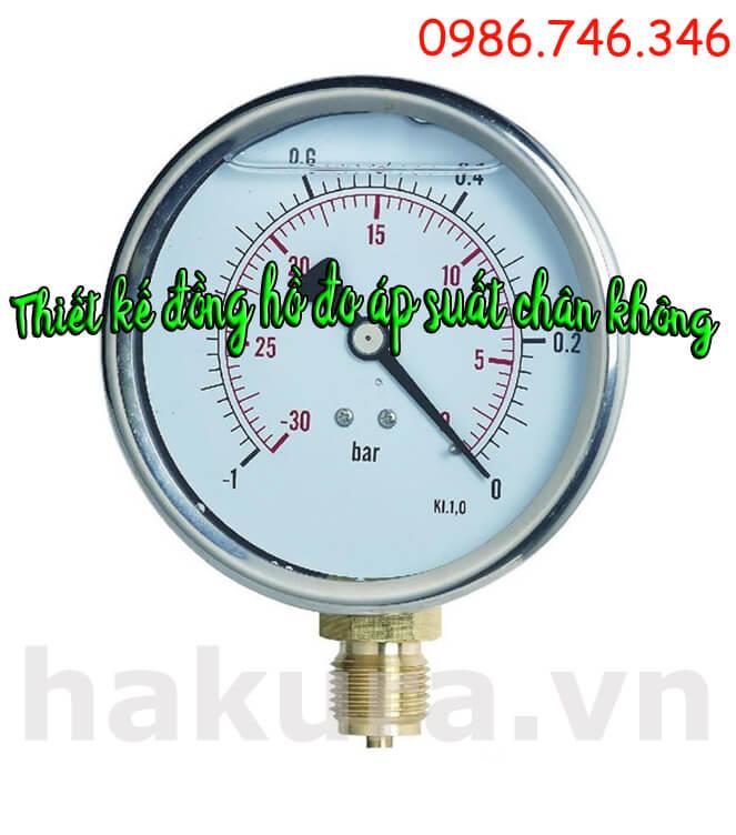 Đặc điểm thiết kế của đồng hồ đo áp suất chân không - hakura.vn