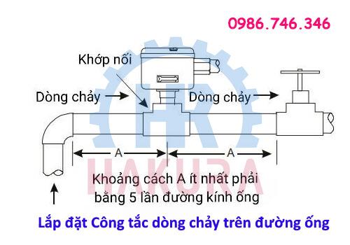 Lắp đặt cảm biến dòng chảy trên đường ống - hakura.vn