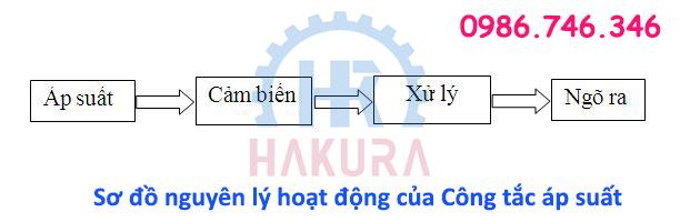 Sơ đồ nguyên lý hoạt động của Công tắc áp suất - Hakura