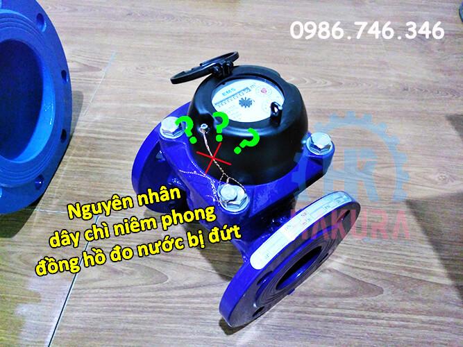 Nguyên nhân dây chì niêm phong đồng hồ đo nước bị đứt - hakura.vn