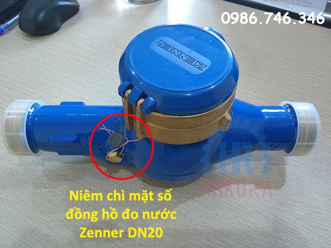 Niêm chì mặt số đồng hồ đo nước Zenner DN20 - hakura.vn