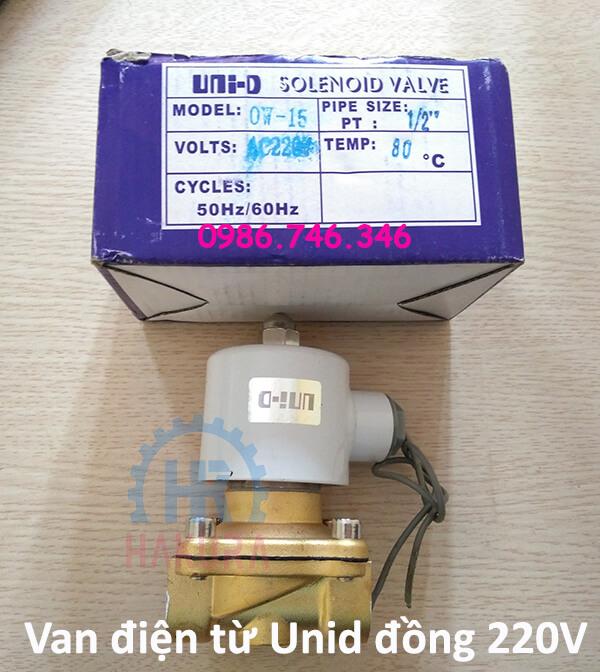 Van điện từ Unid đồng 220V - hakura.vn
