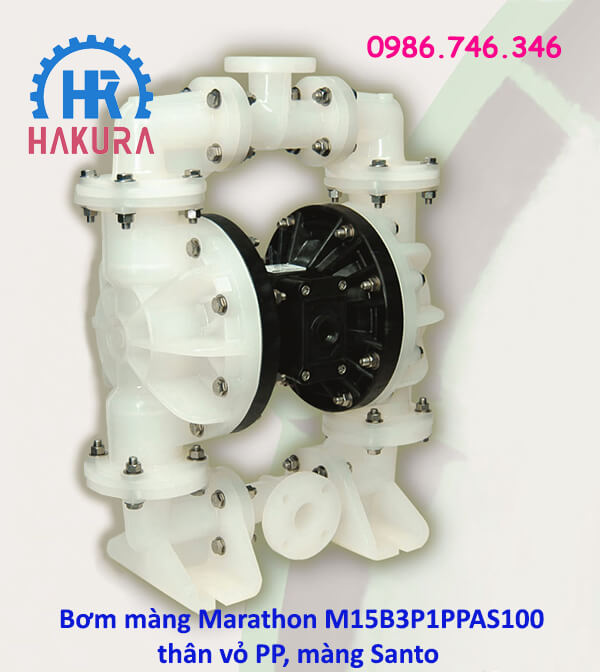 Bơm màng Marathon M15B3P1PPAS100 thân vỏ PP màng Santo - Mỹ USA