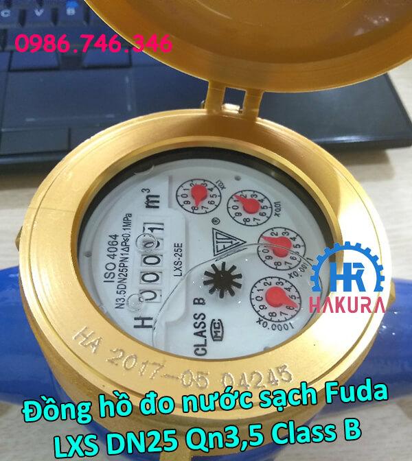 Đồng hồ đo nước sạch Fuda LXS DN25 Qn3,5 class B