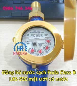 Đồng hồ nước sạch Fuda class B LXS-25E mặt ướt có nước
