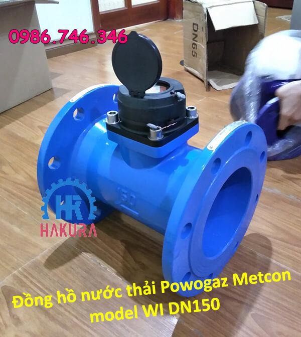 Đồng hồ nước thải Powogaz Metcon model WI DN150