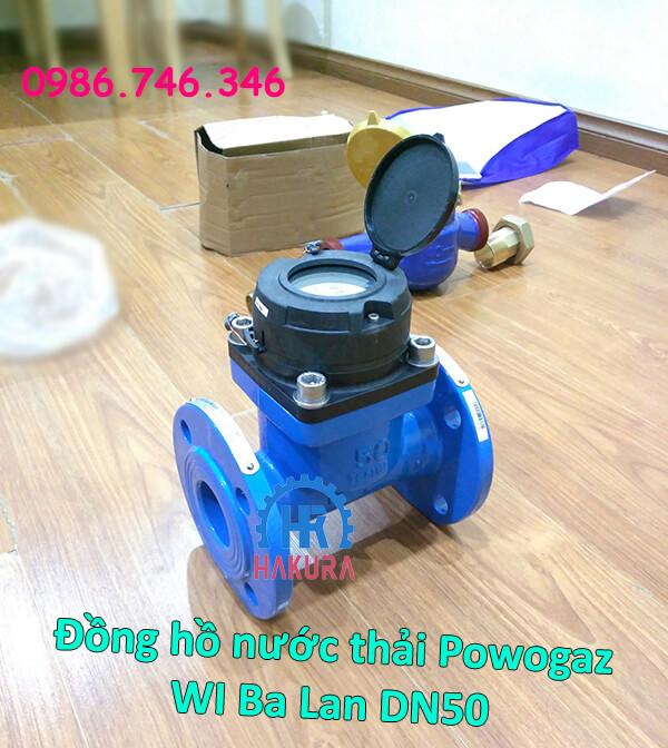 Đồng hồ nước thải Powogaz WI Ba Lan DN50