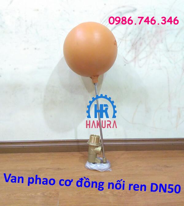 Van phao cơ đồng nối ren DN50